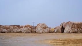 Vue extérieure de l'ensemble original de film utilisé dans le Star Wars comme MOS Photo stock