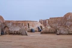 Vue extérieure de l'ensemble original de film utilisé dans le Star Wars comme MOS Image stock