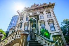 Vue extérieure de Leland Stanford Mansion, Sacramento image stock