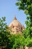 Vue extérieure de palais d'Umaid Bhawan du Ràjasthàn Images libres de droits