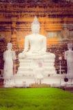 Vue extérieure de parc historique de Sukhothai de géant énorme la vieille ville de la statue antique de la Thaïlande Bouddha chez Photos stock