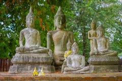 Vue extérieure de parc historique de Sukhothai la vieille ville de la statue antique de la Thaïlande Bouddha chez Wat Mahathat da Images libres de droits