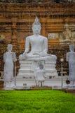 Vue extérieure de parc historique de Sukhothai la vieille ville de la statue antique de la Thaïlande Bouddha chez Wat Mahathat da Photographie stock libre de droits
