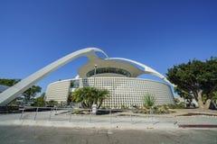 Vue extérieure du bâtiment de thème de LAX Images stock