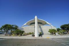 Vue extérieure du bâtiment de thème de LAX Photo libre de droits