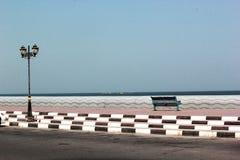 Vue extérieure du corniche d'Ajman, EAU Photos stock