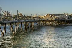 Vue extérieure du pilier sur la plage de Torrance Photographie stock