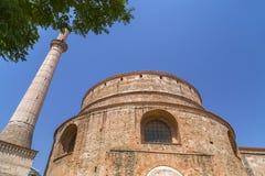 Vue extérieure du rotunda à Salonique, Grèce images stock