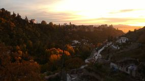 Vue externe d'Alhambra photographie stock libre de droits