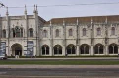 Vue externe de monastère de Jeronimos à Lisbonne Photos stock