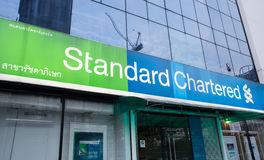 Vue extérieure de banque de Standard Chartered Image libre de droits