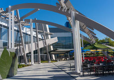 Vue extérieure de bureau de Google, Googleplex Photos libres de droits