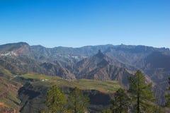 Vue fabuleuse au-dessus du central massif de mamie Canaria Photos stock