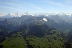 Vue fabuleuse suisse de Valey Image libre de droits