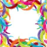 Vue faite de plumes colorées illustration de vecteur