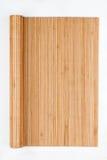 Vue faite de tapis en bambou sous forme de rouleau, manuscrit photographie stock libre de droits
