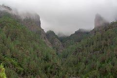 Vue fantastique au-dessus d'une forêt sur des formations de roche photographie stock libre de droits