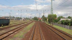 Vue ferroviaire de voyage banque de vidéos