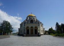 Vue frontale de cathédrale principale de Poti photo libre de droits