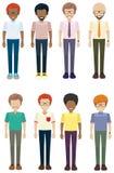 Vue frontale des hommes sans visage Photo libre de droits