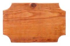 Vue, frontière faite à partir du bois, d'isolement sur le fond blanc Photos stock