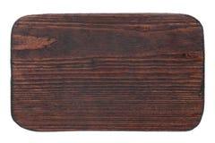 Vue, frontière faite à partir du bois, d'isolement sur le fond blanc Image stock