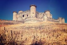 Vue générale de château à Belmonte Photo stock
