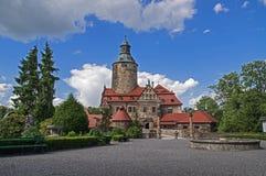 Vue générale de château de Czocha Photo stock