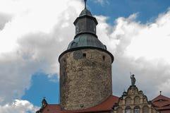 Vue générale de château de Czocha Image libre de droits