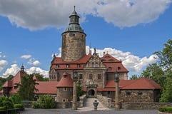 Vue générale de château de Czocha Images stock