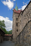 Vue générale de château de Czocha Image stock