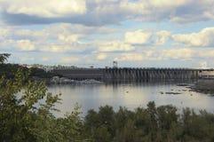Vue générale de station hydro-électrique de Dnieper image stock