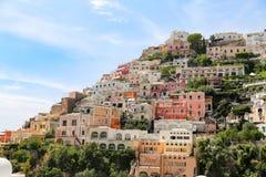 Vue générale de ville de Positano à Naples, Italie image stock