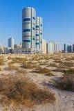 Vue générale des bâtiments modernes au Charjah Image libre de droits