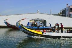 Vue générale des bateaux à Aveiro Portugal Images stock