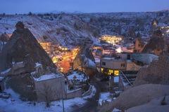 Vue générale du Cappadocia la nuit Photo libre de droits