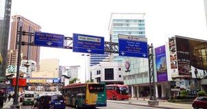 Vue générale du trafic de Kuala Lumpur Photo libre de droits