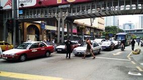 Vue générale du trafic de Kuala Lumpur Images libres de droits