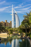 Vue générale premier étoiles du monde hôtel de luxe du de sept Burj Image stock