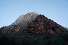 Vue géométrique chez Zion Photo libre de droits