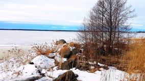 Vue gelée de mer Image libre de droits