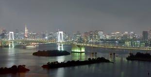 Vue gentille de pont en arc-en-ciel de Tokyo Photos libres de droits