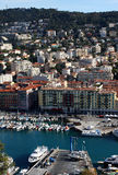 Vue gentille de port et de ville, France Photo stock