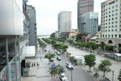 Vue gentille de rue de marche (Di BO de Pho) photographie stock libre de droits