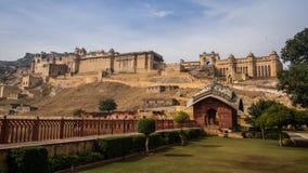 Vue globale d'Amer Fort, Amer, Jaipur, Ràjasthàn, Inde Photographie stock
