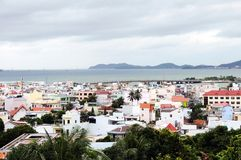 Vue globale de plage de NHA TRANG au Vietnam Photographie stock