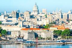 Vue générale de vieille La Havane Photo libre de droits