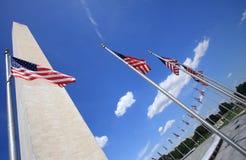 Vue grande-angulaire commémorative de Washington Photographie stock libre de droits