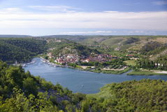 Vue grande, Croatie Images libres de droits