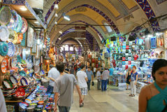 Vue grande de Bazar d'Istambul Photo stock